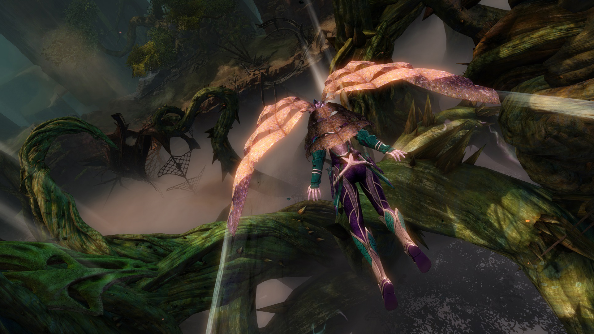 Guild Wars 2 Heart of Thorns PVE gliding